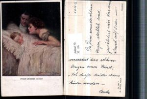 321126,M. Munk Vienne 742F Künstler Clarence F. Underwood Unser größtes Glück Paar Kind