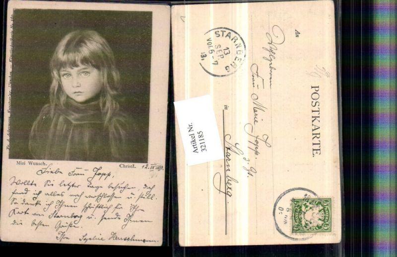 321185,F. A. Ackermann 560 Künstler Mizi Wunsch Christl Mädchen Portrait