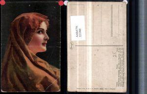 321260,Stengel Co 29470 Künstler Wilhelm Hunger Marga Mädchen m. Kopftuch Portrait
