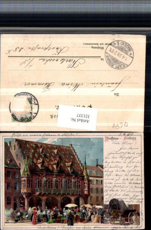 321337,Künstler Litho Heinrich Kley Freiburg Kaufhaus Erker Markt pub Velten 37