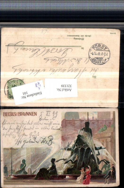321339,Künstler Litho Heinrich Kley Berlin Becas Brunnen pub J. Velten 153