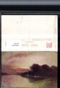 321473,Raphael Tuck & Sons 2577 Künstler Van Hier By wood and River Landschaft