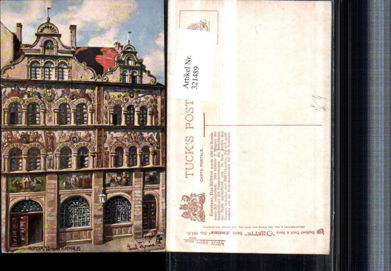 321489,Raphael Tuck & Sons 684B Künstler Paul Thoma Konstanz Rathaus