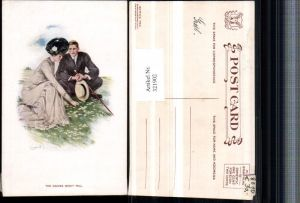 321902,Künstler AK Clarence F. Underwood Daisies wont tell Glamour Frau m. Kleid Hut