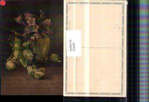 322028,Künstler AK C. Von Sivers Stillleben Haselnüsse Blumen Vase pub Wenau-Pastell 695