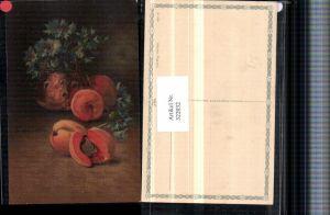 322032,Künstler AK C. Von Sivers Stillleben Marillen Kornblumen Vase pub Wenau-Pastell 694