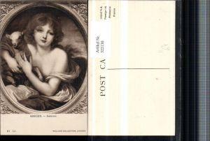 322130,Künstler AK Greuze Innocence Frau m. Lamm Schaf Portrait