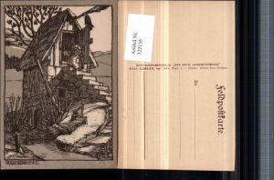 322155,Künstler AK Kopp Vogesenhexe Hexe Hütte Besen Rabe