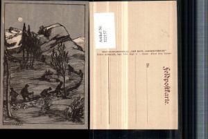 322157,Künstler AK Kopp Nachtarbeit Landschaft Bergkulisse