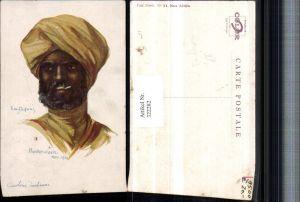 322282,Künstler AK Em. Dupuis Pasehendaele 1914 Cavalerie indienne Mann m. Turban Zigarette Portrait