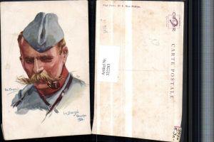 322283,Künstler AK Em. Dupuis La Bassoe 1914 Mann m. Pfeife Mütze Portrait