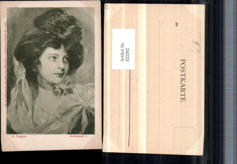 322292,Künstler AK H. Torggler Studienkopf Frau Portrait pub A. Ackermann 1098