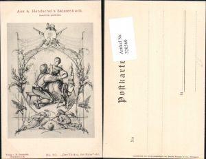 320560,Künstler Ak A. Hendschel 80 Der Türk u. d. Russ Spinnrad