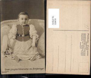 320870,Unser jüngster Hohenzoller als Einjähriger Adel Monarchie