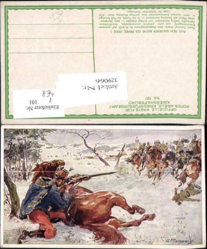 329066,Künstler Ak A. Marussig Husarenregiment WW1 pub Kriegsfürsorge 197