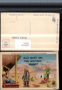 326413,Künstler AK Scherz Humor Western Front Männer m. Sombrero schlafen Esel Spruch