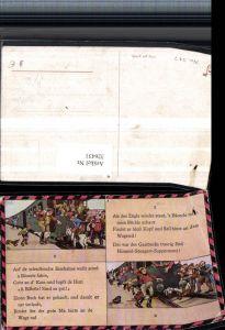 326431,Künstler AK H. Boettcher Humor Eisenbahn Zug überfährt Ziegenbock Spruch Text