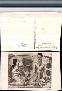 327536,Künstler AK F. Hodler Frühling Surrealismus Erotik Akt