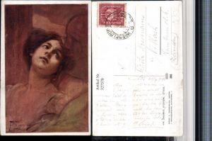 327570,Künstler AK Fr. Zmurko Studyum Frau Männerschatten Portrait