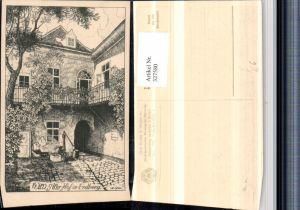 327580,Künstler AK Ulf Seidl Wien Alter Hof in Erdberg pub Deutschnationaler Verein f. Österreich 41