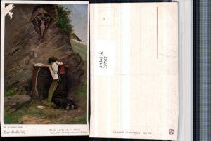 327627,Künstler AK M. Kuglmayr Der Weltkrieg Frau weint Andacht Brief