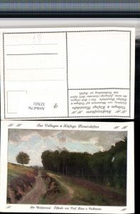 327631,Künstler AK Hans v. Volkmann Am Waldesrand Landschaft pub Velhagen & Klasings