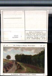 327632,Künstler AK Hans v. Volkmann Am Waldesrand Landschaft pub Velhagen & Klasings