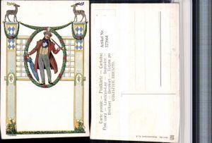 327664,Jugendstil Künstler AK F. Quidenus Biedermeier Mann Pfeife Schirm Hut pub Art Deco 694/3