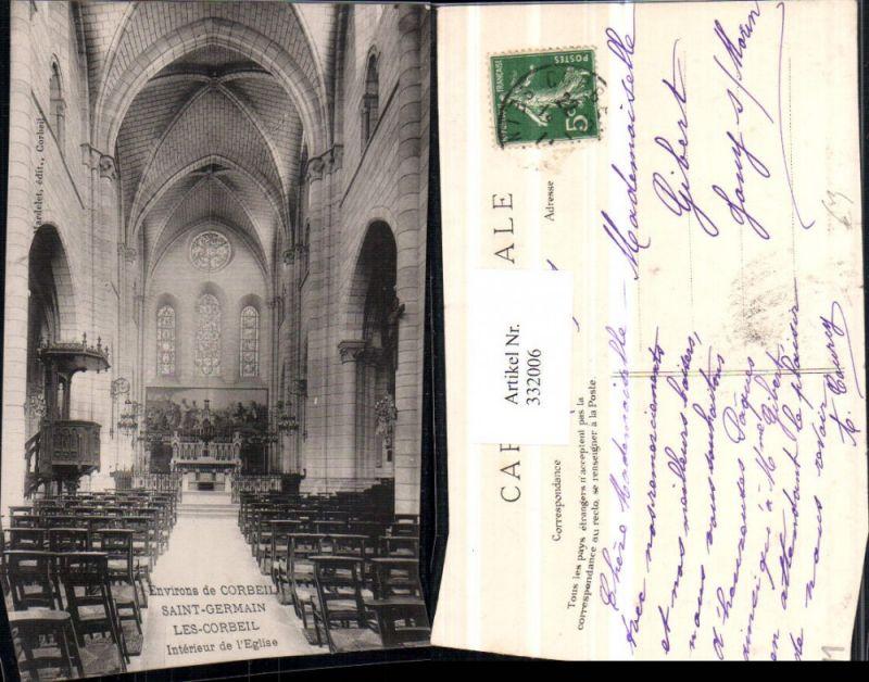332006,Ile-de-France Essonne Corbeil Saint-Germain Les-Corbeil Interieur de l'Eglise Kirche