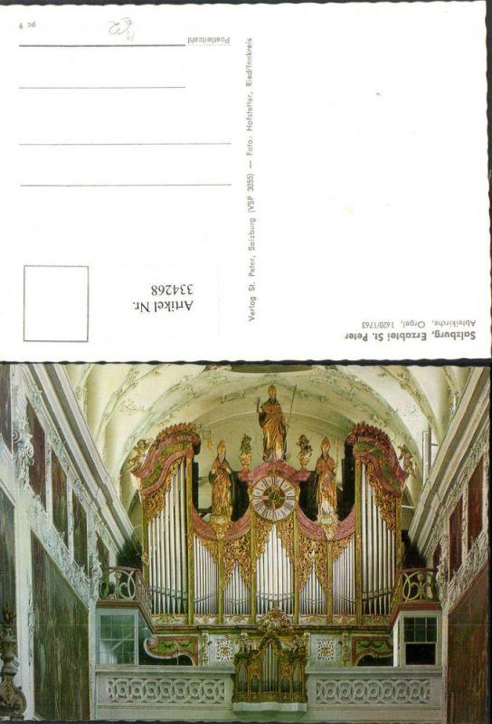334268,Salzburg Erzabtei St. Peter Abteikirche Orgel