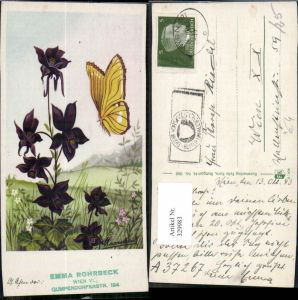 329983,Künstler Ak Schmetterling Insekten Blumen