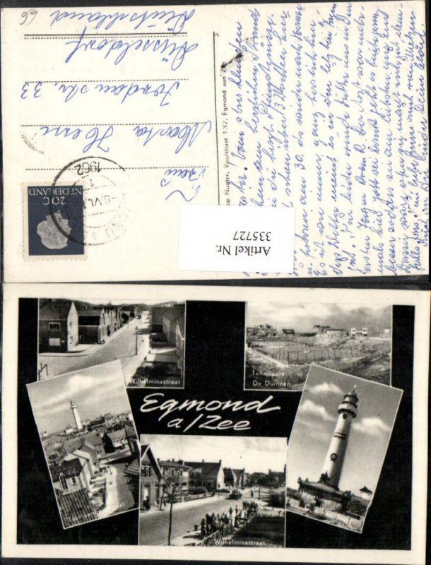 335727,Egmond aan Zee Totale Tennispark Leuchtturm Mehrbildkarte