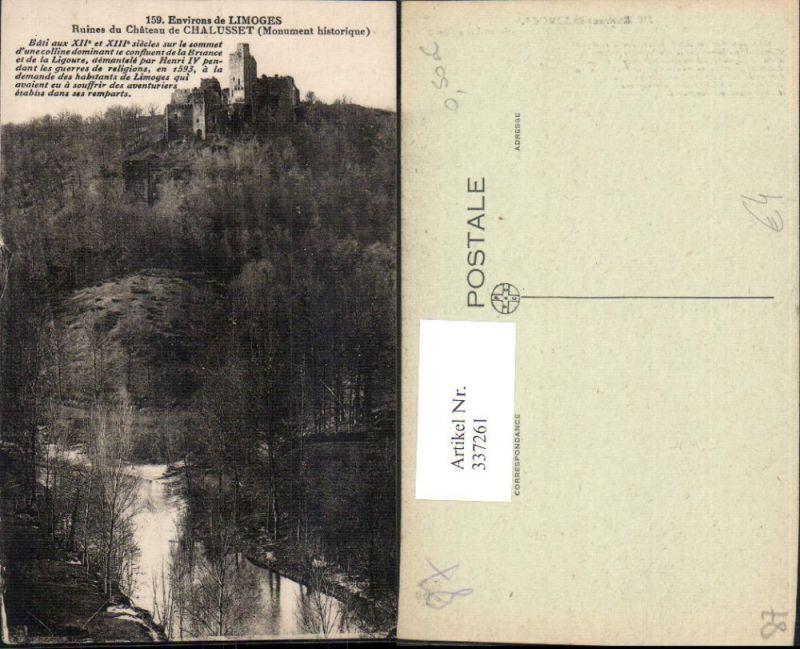 337261,Limousin Haute Vienne Environs de Limoges Ruines du Chateau de Chalusset Schloss Burg