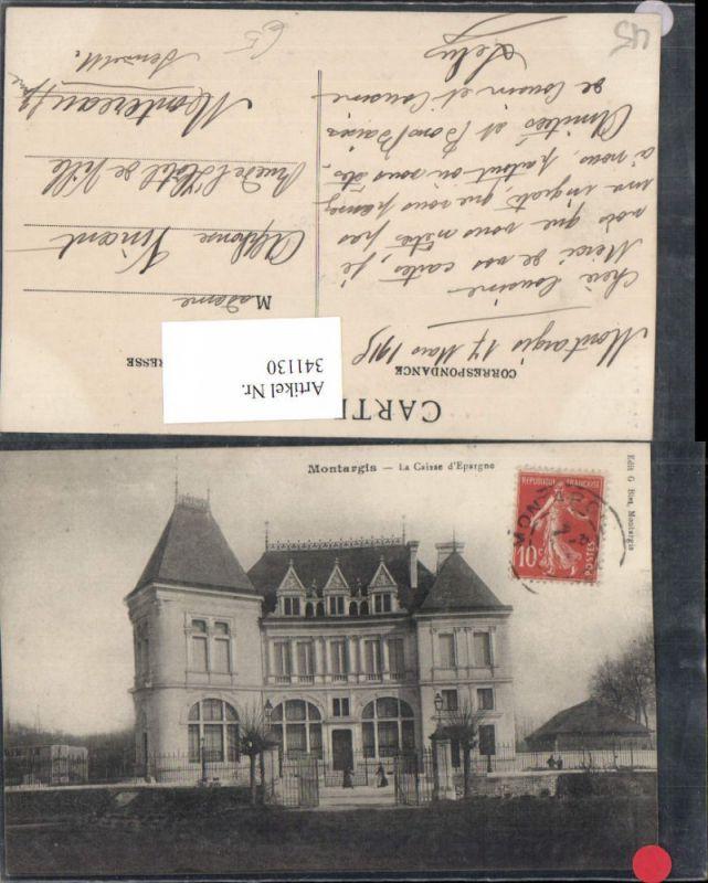 341130,Centre Loiret Montargis La Caisse d'Epargne Gebäude