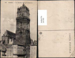 341703,Midi-Pyrenees Aveyron Rodez Le Clocher de la Cathedrale Kirche Glockenturm
