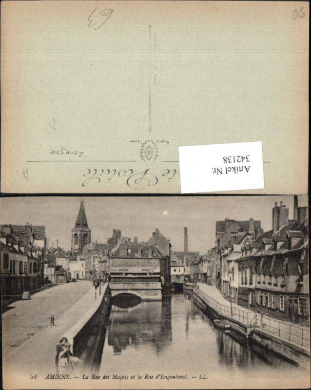 342138,Picardie Somme Amiens La Rue des Majots et la Rue d'Engoulvent Straße