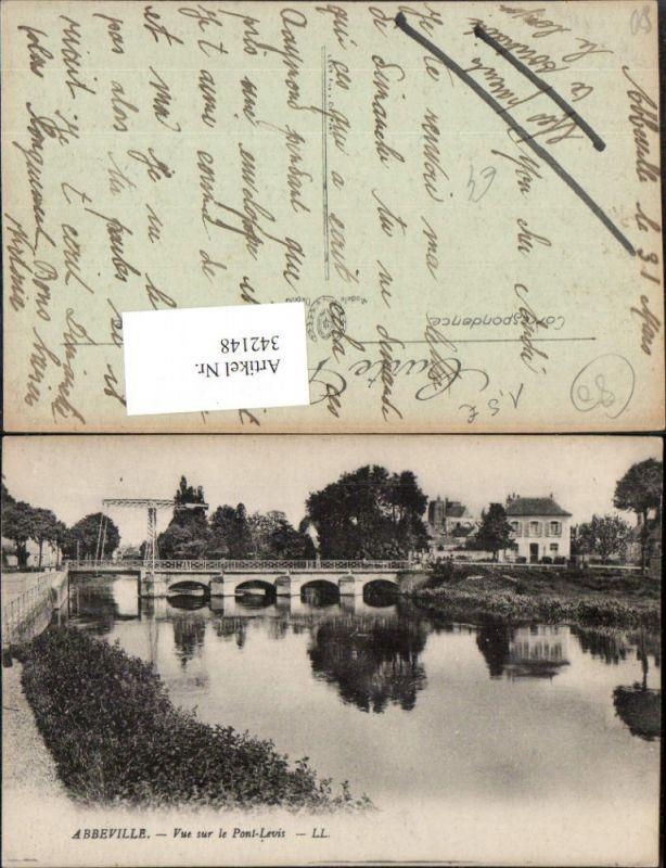 342148,Picardie Somme Abbeville Vue sur le Pont-Levis Fluss Brücke
