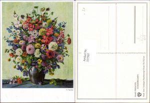 337507,Künstler Ak Hans Prentzel Sommerblumen Blumen pub Hanfstaengl 253
