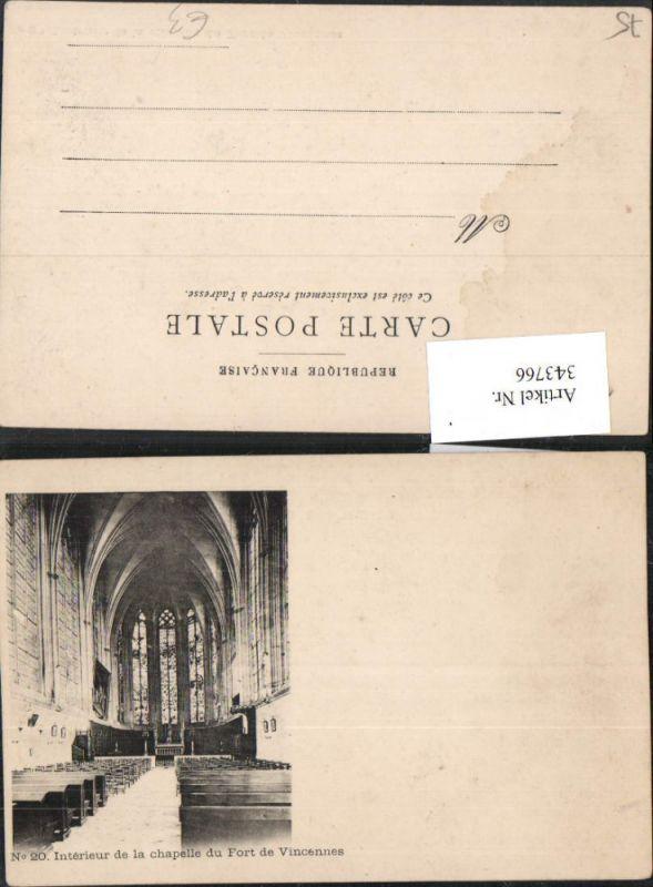 343766,Ile-de-France Paris Interieur de la chapelle du Fort de Vincennes Kirche