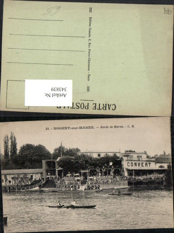 343839,Ile-de-France Val-de-Marne Nogent-sur-Marne Bords de Marne Ruderboot
