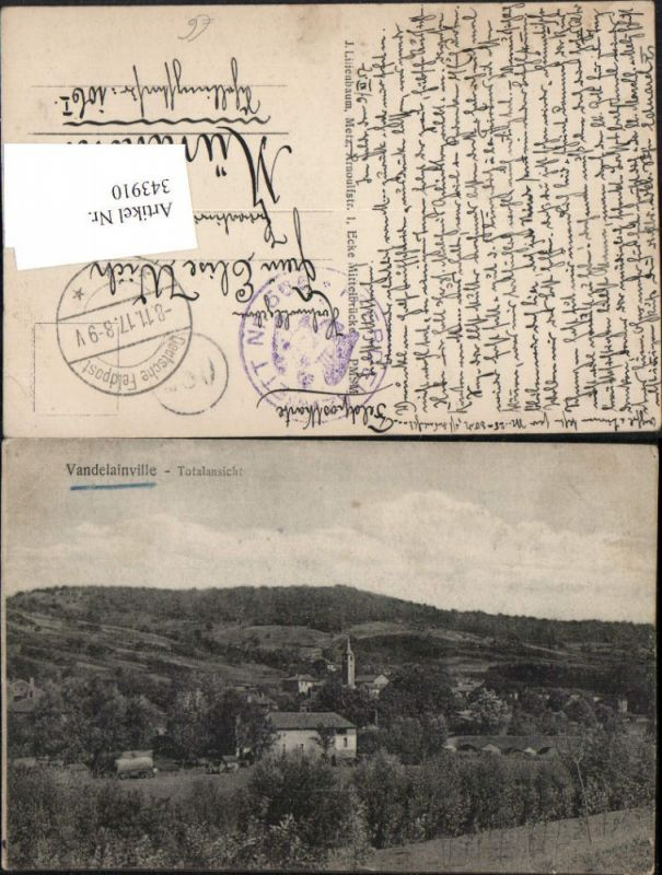 343910,Lothringen Meurthe-et-Moselle Vandelainville Vue Generale Totale