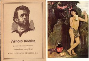 339475,Künstler Ak 5 Stk. m. Mappe Arnold Böcklin pub Hermes Dresden