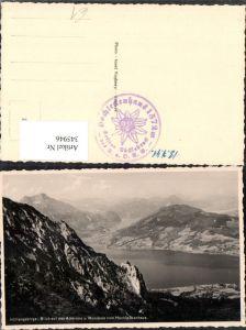 345946,Höllengebirge Blick auf Attersee u. Mondsee vom Hochleckenhaus b. Steinbach