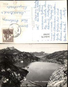 345960,Attersee See von d. Madlschneid b. Steinbach Bergkulisse
