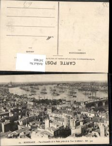 347405,Aquitanien Gironde Bordeaux Vue d'ensemble de la Rade prise de la tour St-Michel Hafen
