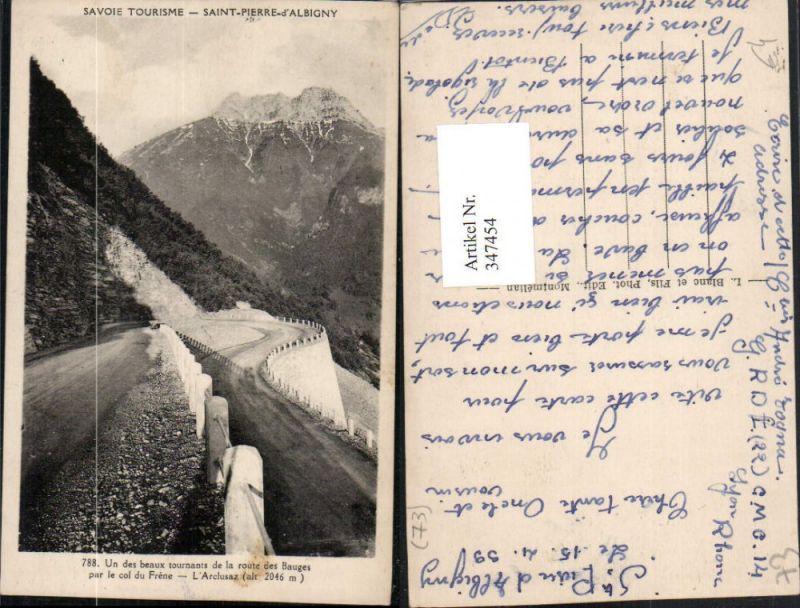 347454,Rhone-Alpes Savoie Saint-Pierre-d'Albigny Route des Bauges par le col du Frene Bergkulisse
