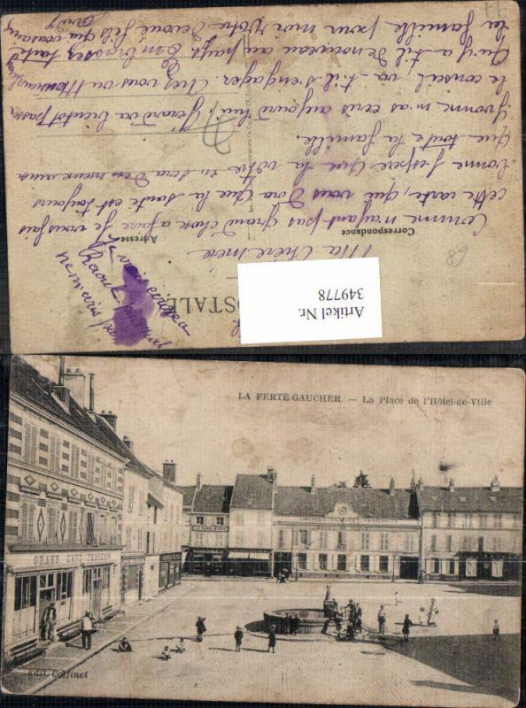 349778,Ile-de-France Seine-et-Marne La Ferte Gaucher La Place de l Hotel de Ville Brunnen