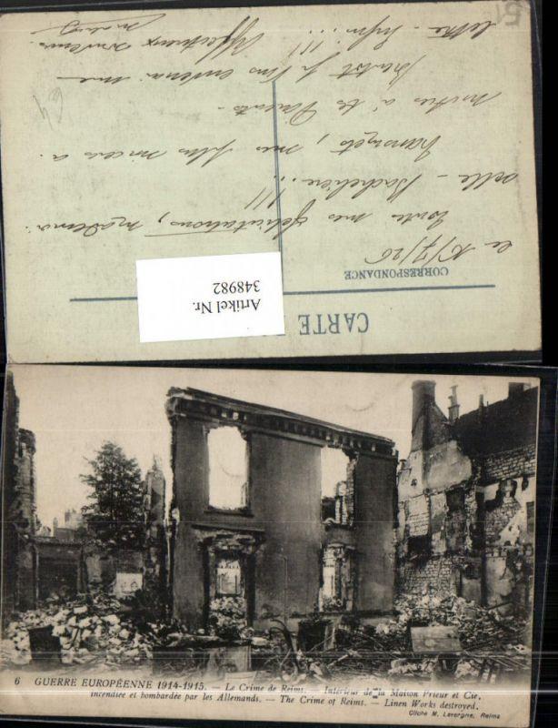Ak Champagne Marne - 2361906 Révolution Avril 1911 interieur de la ...