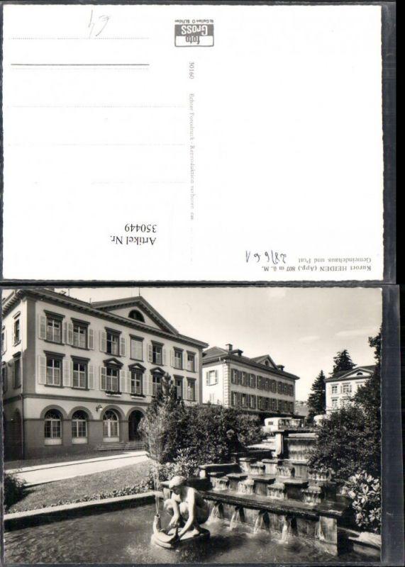 350449,Heiden Gemeindehaus u. Post Brunnen Kt Appenzell