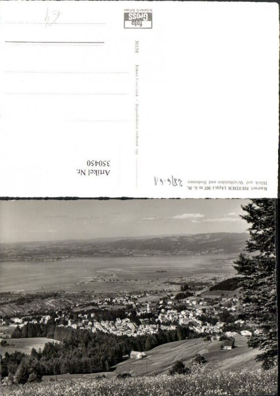 350450,Heiden Totale Blick auf Wolfhalden u. Bodensee Kt Appenzell